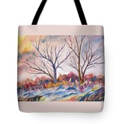 Watercolor - Trees And Woodland Meadow Tote Bag