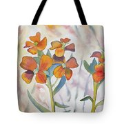 Watercolor - Wallflower Wildflowers Tote Bag