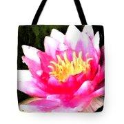 Watercolor Waterlily Tote Bag