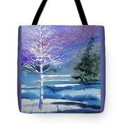 Watercolor - Winter Aspen Tote Bag