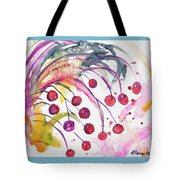 Watercolor - Winter Berry Abstract Tote Bag
