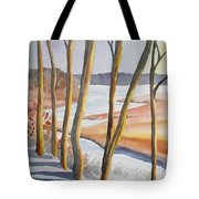 Watercolor - Winter Sunrise Tote Bag