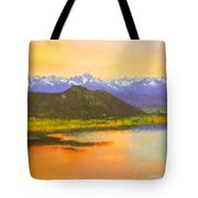 Watercolored Sunset Tote Bag