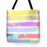 Watercolour Abstract Strips Tote Bag