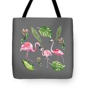 Watercolour Flamingo Family Tote Bag