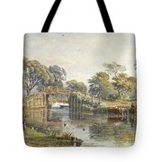 Watercolour Heightened With White Tote Bag