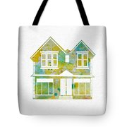 Watercolour House Tote Bag