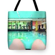 Watercolour Painting Of Relaxation On Holiday Tote Bag
