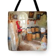 Watercolour Painting Of The Inside Of A Windmill Tote Bag