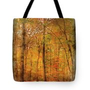 Watercolour Painting Of Vibrant Autumn Fall Forest Landscape Ima Tote Bag