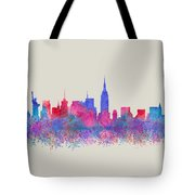 Watercolour Splashes New York City Skylines Tote Bag