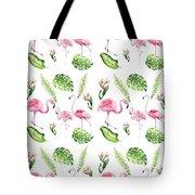 Watercolour Tropical Beauty Flamingo Family Tote Bag