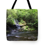 Waterfall And Mountain Creek Tote Bag