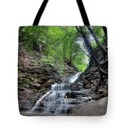 Waterfall And Natural Gas Tote Bag