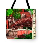 Waterfall At Apt In Kirkland Wa Tote Bag