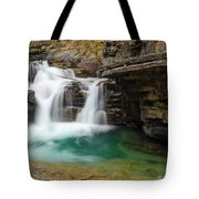Waterfall At Johnston Canyon Tote Bag