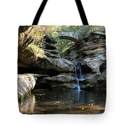 Waterfall At Old Man Cave Tote Bag