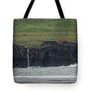 Waterfall At The Cliffs Of Moher Tote Bag