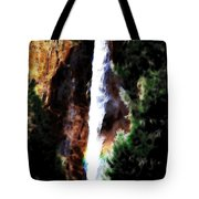 Waterfall At Yosemite Tote Bag