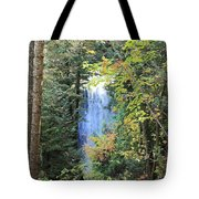 Waterfall Beyond The Trees Tote Bag