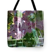 Waterfall Floral Tote Bag