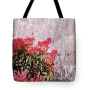 Waterfall Flowers Tote Bag