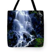 Waterfall Flowing And Ebbing Tote Bag