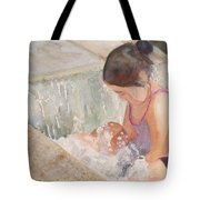 Waterfall In Her Lap Tote Bag