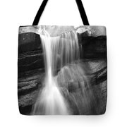 Waterfall In Nh Black And White Tote Bag