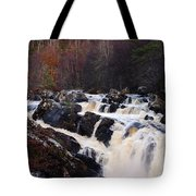 Waterfall In Scotland Tote Bag