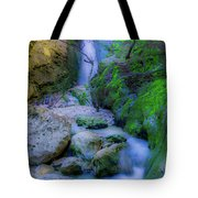 Waterfall In Soft Dream. Tote Bag