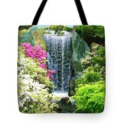Waterfall In Spring Tote Bag