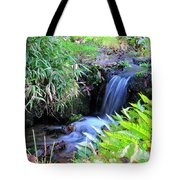 Waterfall In The Fern Garden Tote Bag