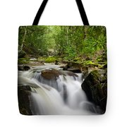 Waterfall In The Forest Tote Bag