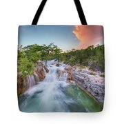 Waterfall In The Texas Hill Country 3 Tote Bag