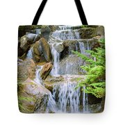 Waterfall In The Vandusen Botanical Garden 1 Tote Bag