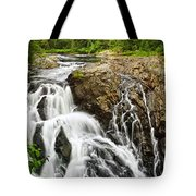 Waterfall In Wilderness Tote Bag