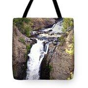 Waterfall In Yellowstone Tote Bag