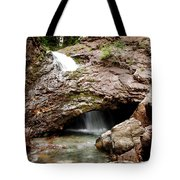 Waterfall Into A Cave Tote Bag