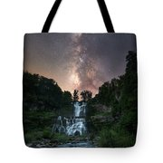 Waterfall Milky Way  Tote Bag