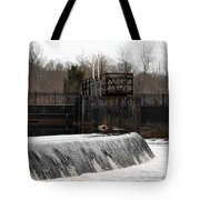 Waterfall Near The Railway Tote Bag