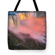 Waterfall Night Lights Tote Bag
