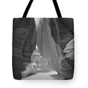 Waterfall Of Light - Black And White Tote Bag