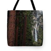 Waterfall Of Pines Tote Bag