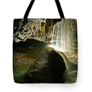 Waterfall Of The Caverns Tote Bag