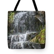 Waterfall On Mount Ranier Tote Bag