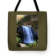 Waterfall On The Cliff Edge Tote Bag
