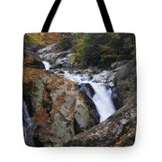 Waterfall On West Fork French Broad River Tote Bag