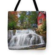 Waterfall Painting Tote Bag