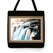 Waterfall Scene For Mia Parker - Sutcliffe L A S With Decorative Ornate Printed Frame.  Tote Bag